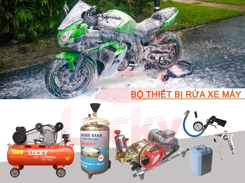 bộ rửa xe máy chuyên nghiệp