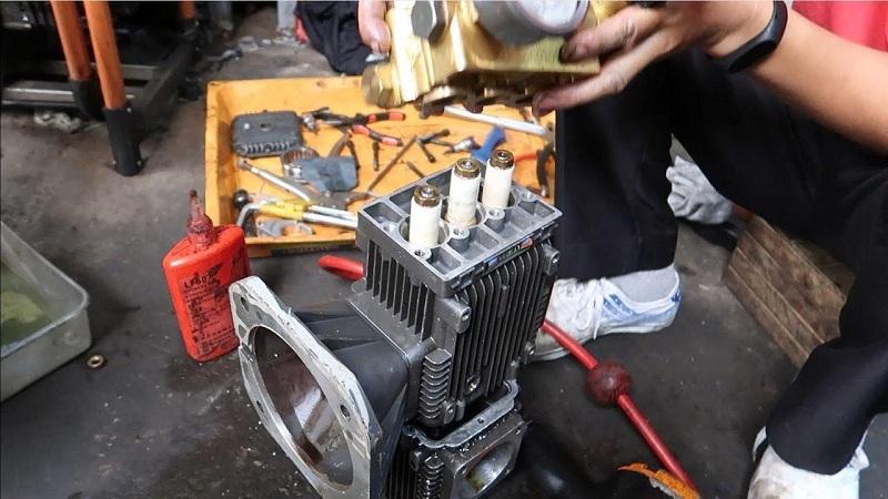 cách lắp máy rửa xe mini